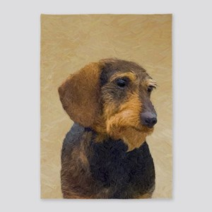 Dachshund (Wirehaired) 5'x7'Area Rug
